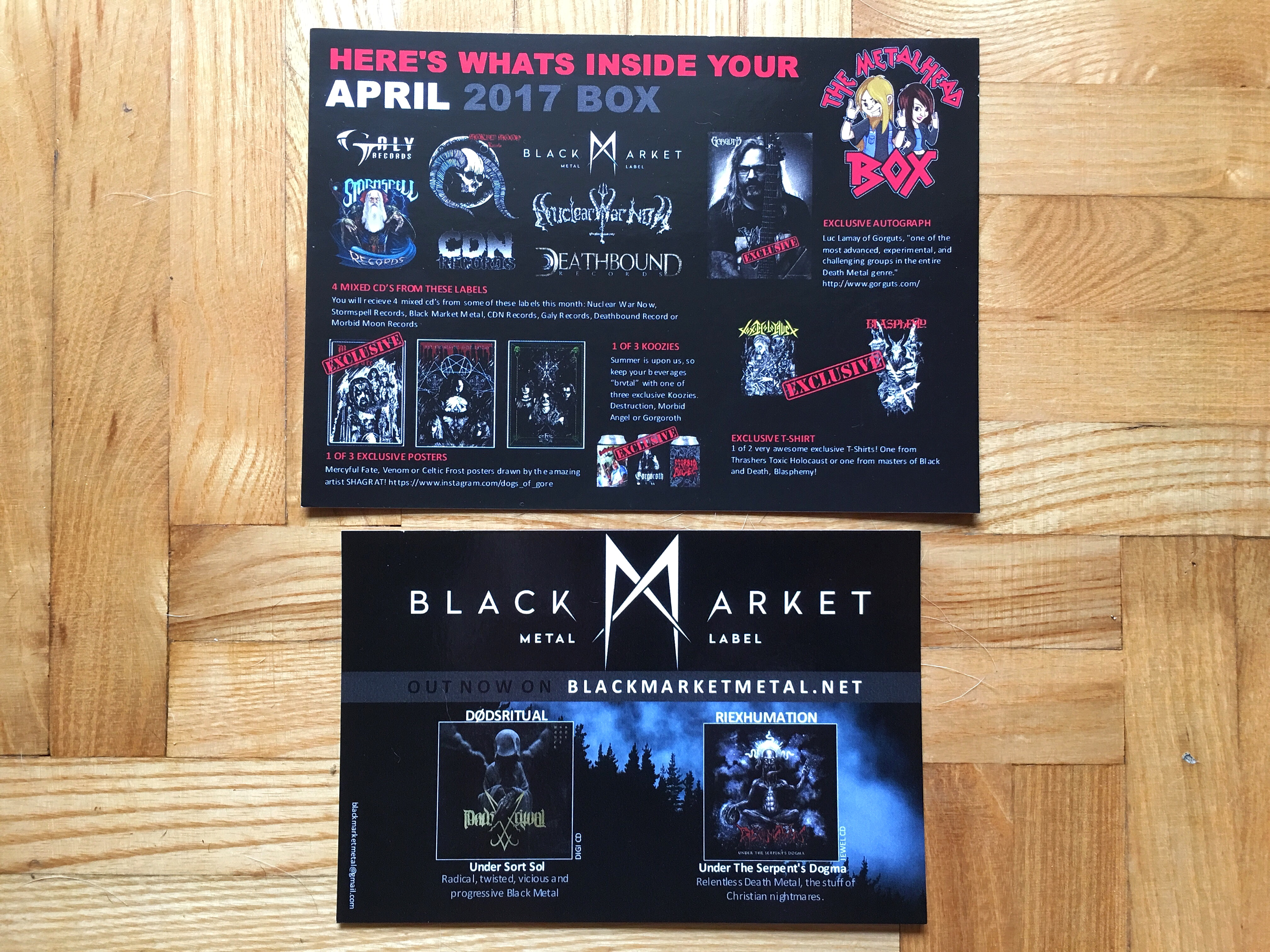 flyers april the metalhead box